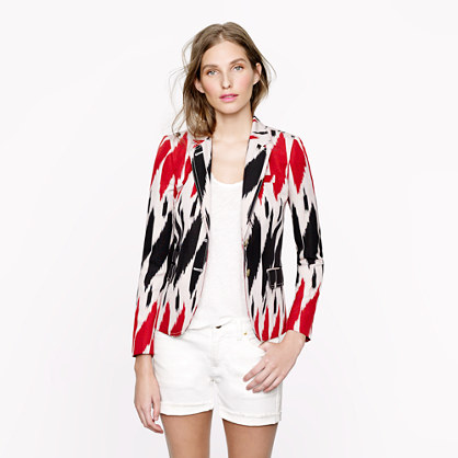 Collection classic schoolboy blazer in ikat