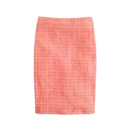 No. 2 pencil skirt in neon tweed