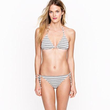 Stripe cotton string top