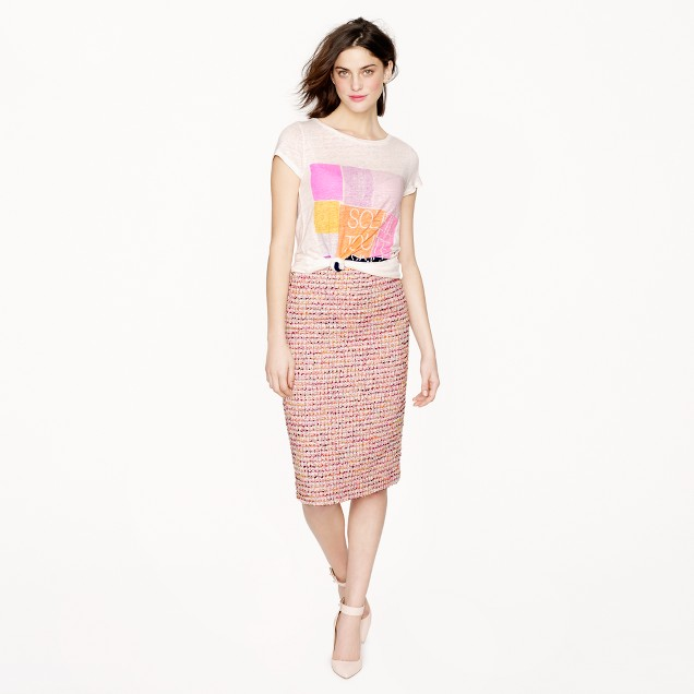 Collection No. 2 pencil skirt in Ratti candy tweed