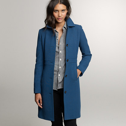 Double-cloth lady day coat