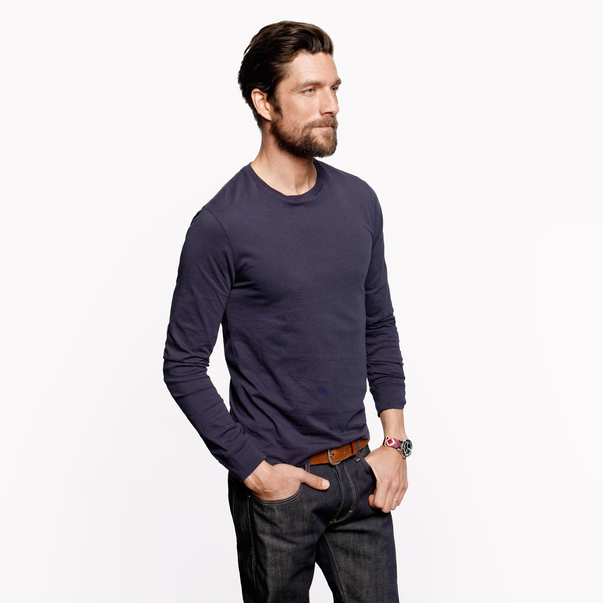 Tall Broken-In Long-Sleeve T-Shirt : Men's Tees | J.Crew