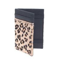 Magic wallet in calf hair