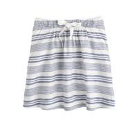 Boardwalk linen skirt in stripe