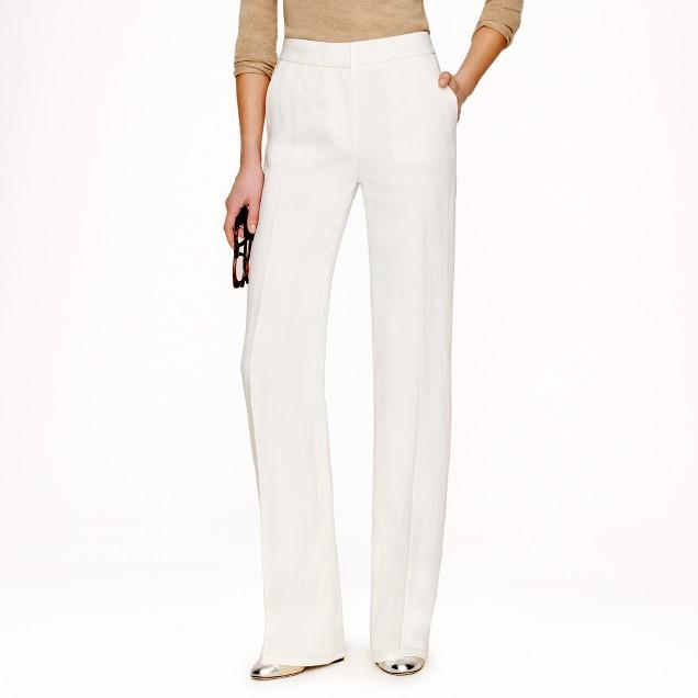 Collection tuxedo pant in Italian linen