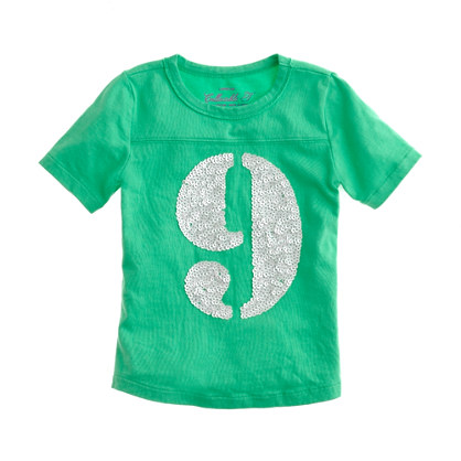 Girls' sequin number tee