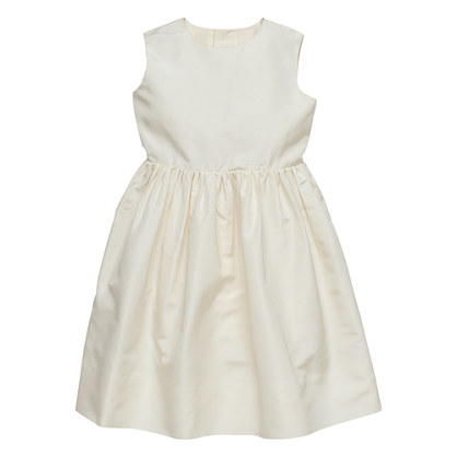 Girls' Annabelle silk faille dress