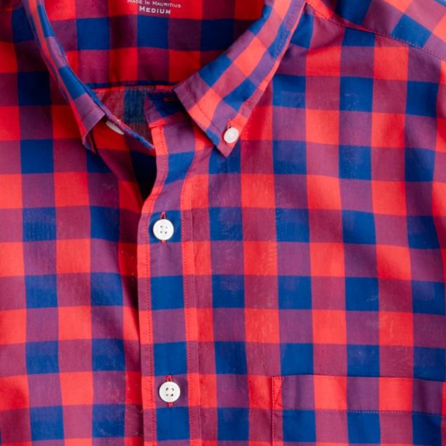 Secret Wash lightweight shirt in Fliss check