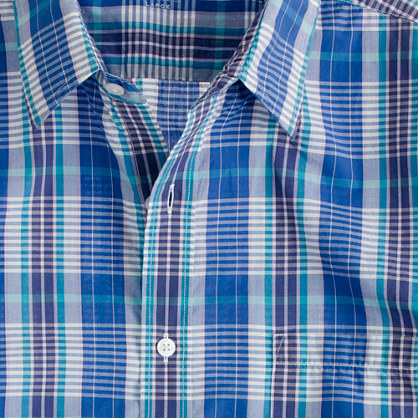 Secret Wash lightweight shirt in Shelton check