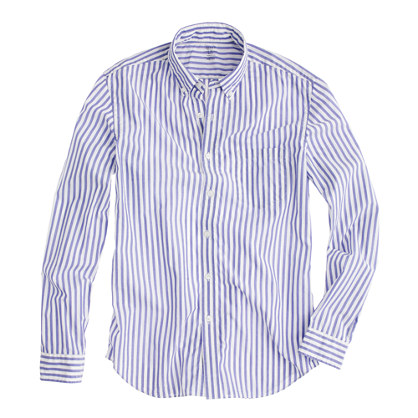 Secret Wash lightweight shirt in sea stripe