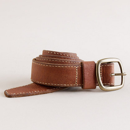 Roughed-out leather belt