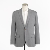 Ludlow suit jacket with center vent in Italian oxford cloth