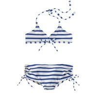 Girls' bikini set in stripe