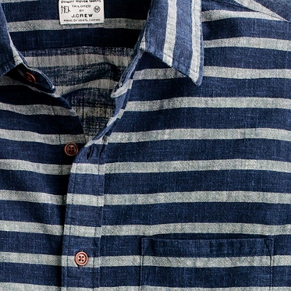 Slim nautical-stripe shirt