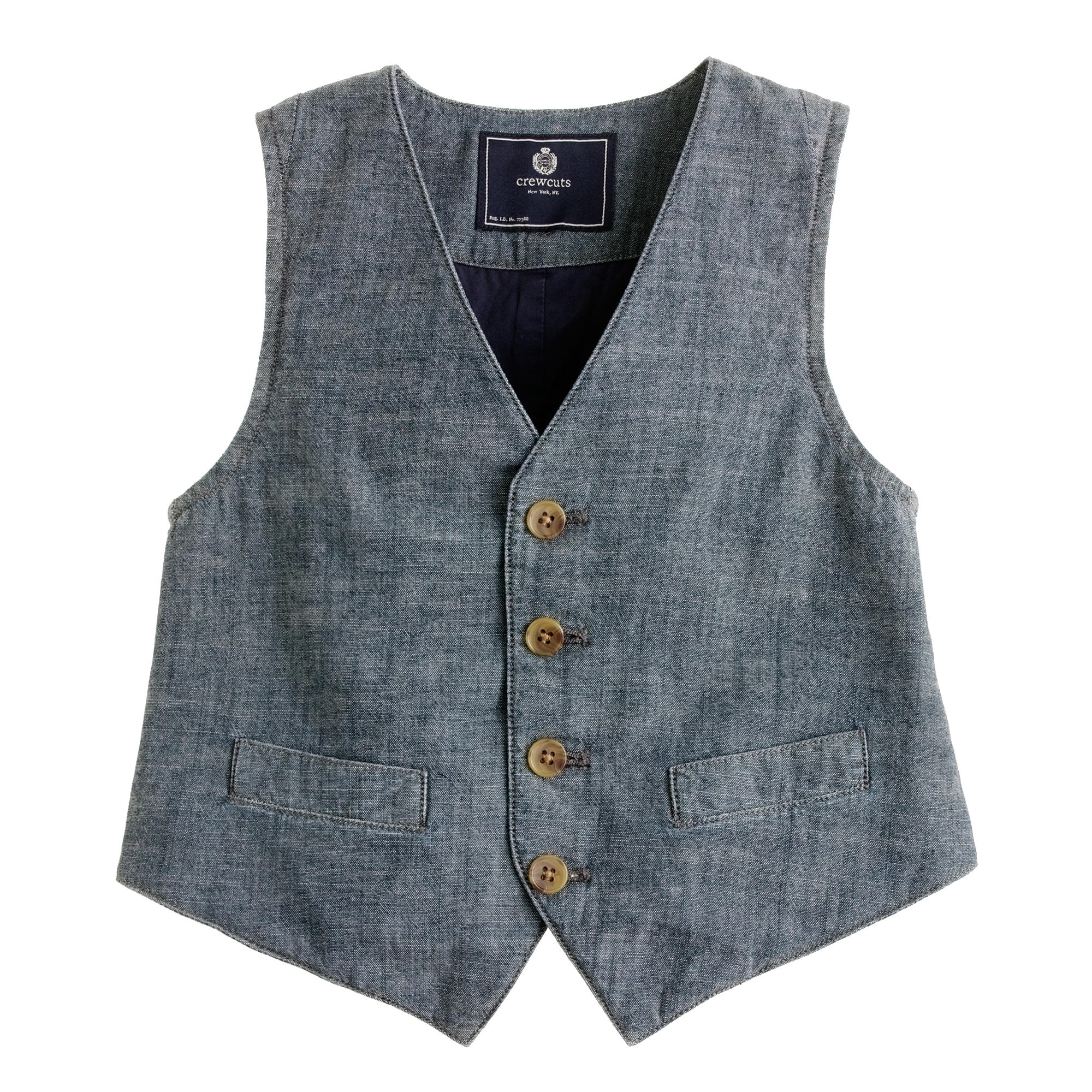 Boys' vest in chambray :