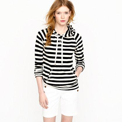 Stripe popover hoodie
