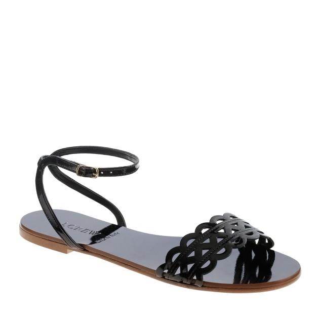 Inez patent sandals