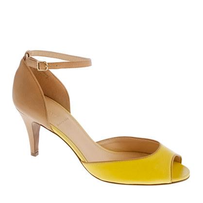 Lara peep-toe heels