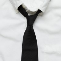 Solid repp-silk Cambridge tie
