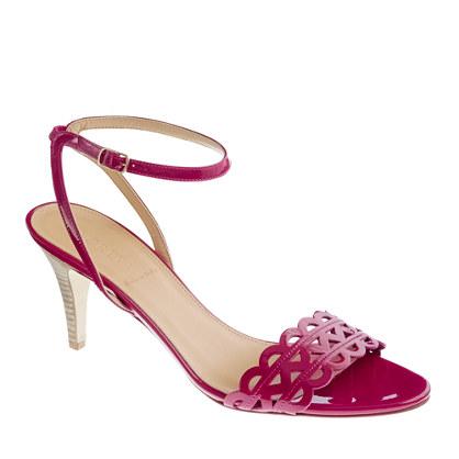 Inez patent midheel sandals