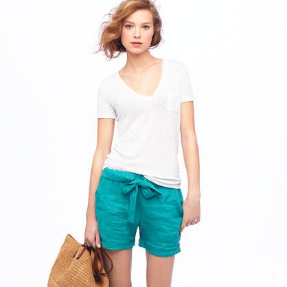 Linen bow short