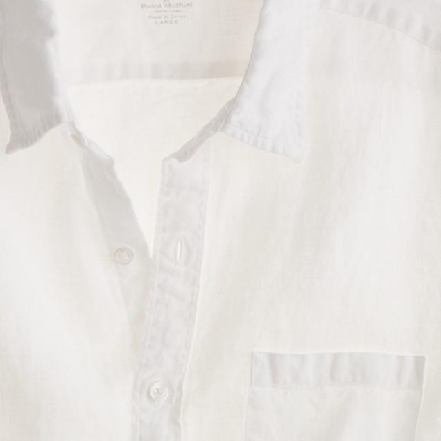 Slim Irish linen shirt