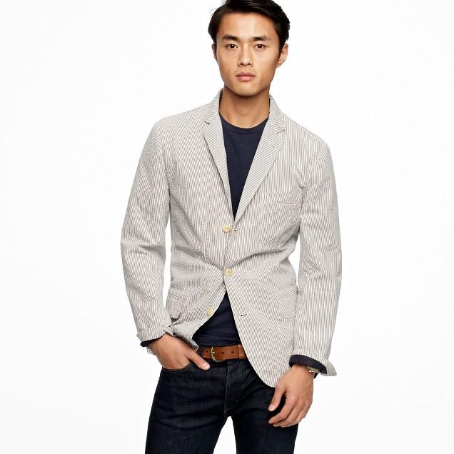 Seersucker workwear jacket