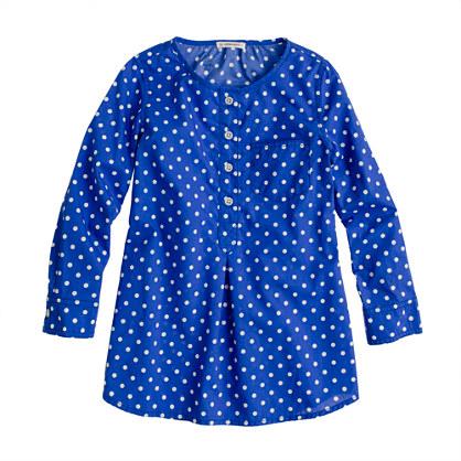 Girls' pocket tunic in dot