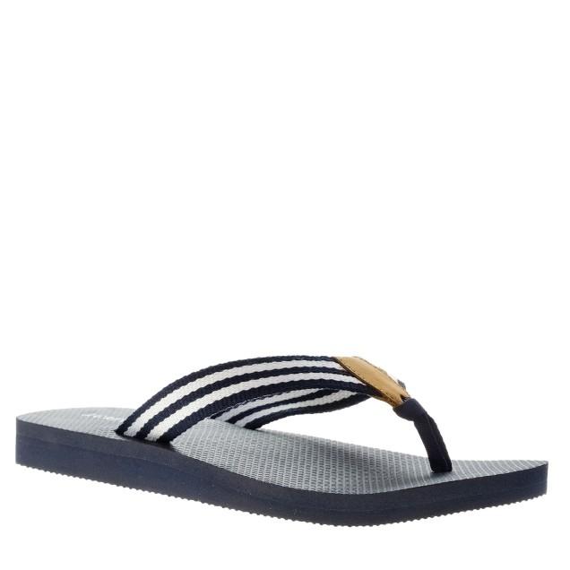 Stripe flip-flops