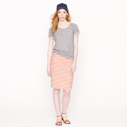 Petite No. 2 pencil skirt in deck stripe
