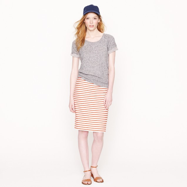 No. 2 pencil skirt in deck stripe
