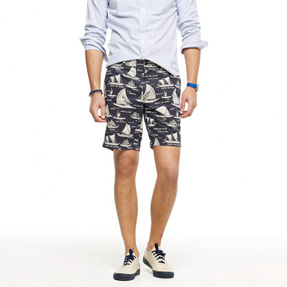 Stanton short in sailboat print