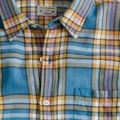 Summerweight twill shirt in Winnicut plaid