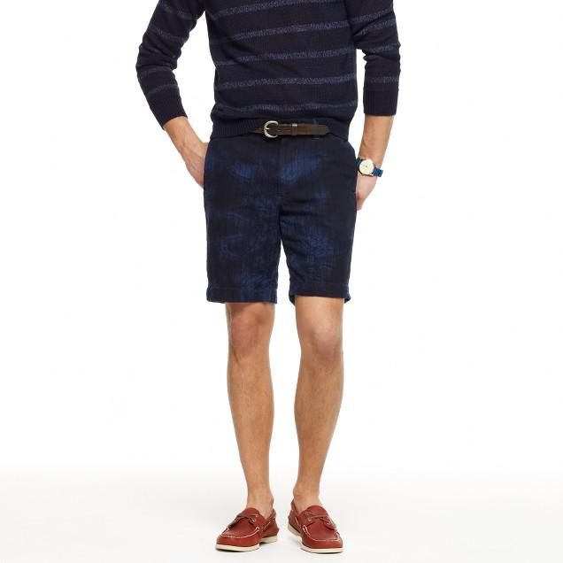 Stanton short in tie-dye indigo