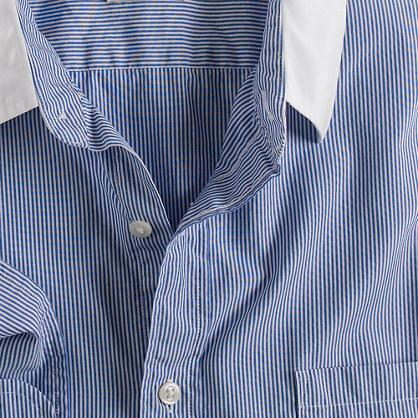 Secret Wash white-collar shirt in banker stripe