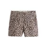 Linen short in safari cat