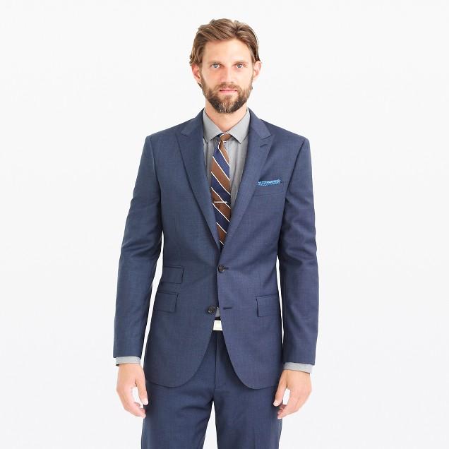 Ludlow suit jacket in heathered Italian wool