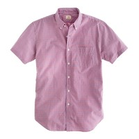Secret Wash short-sleeve shirt in Wyle tattersall
