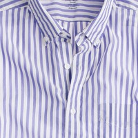 Secret Wash lightweight short-sleeve shirt in sea stripe