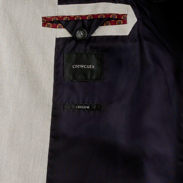 Boys' Ludlow suit jacket in fine stripe