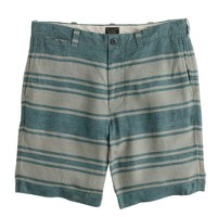 "9"" Stanton short in stripe linen"