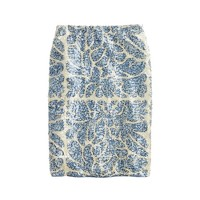 Printed sequin skirt