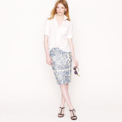 Printed sequin skirt : Women pencil | J.Crew