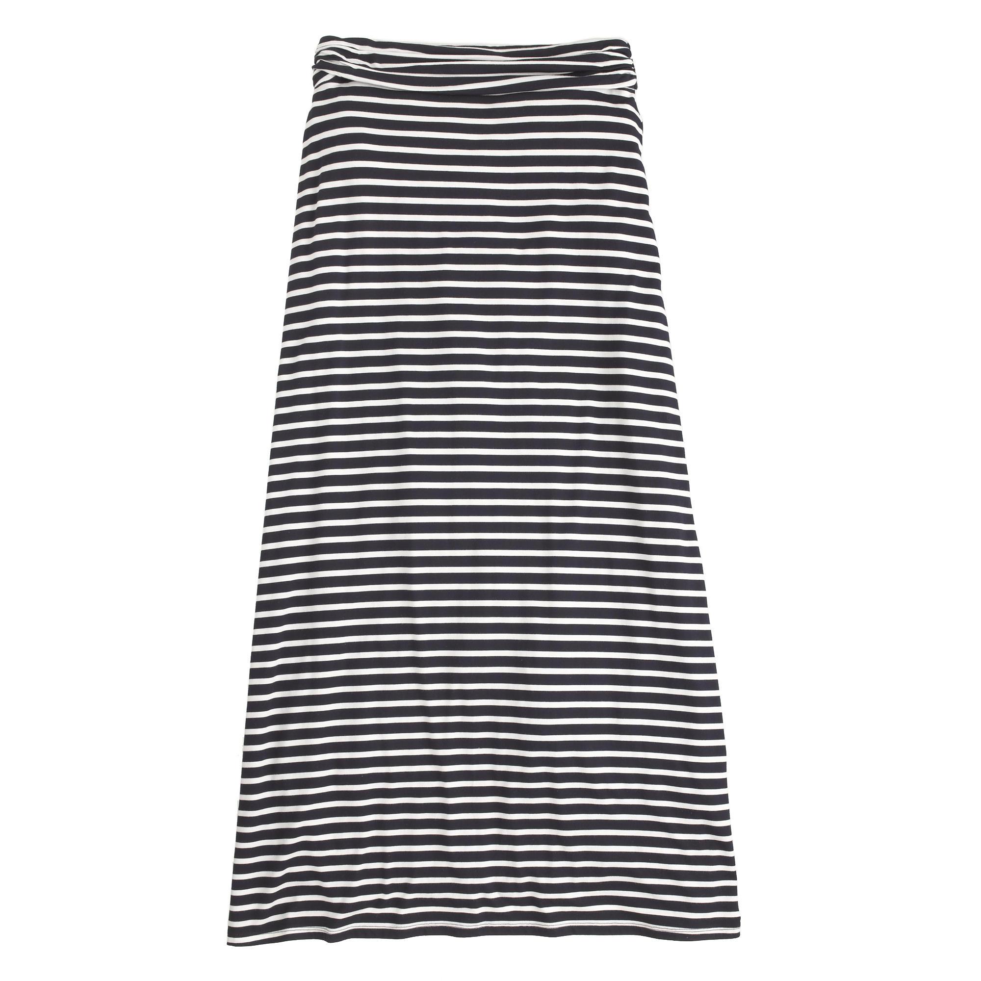 Stripe jersey maxiskirt : | J.Crew