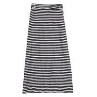 Stripe jersey maxiskirt
