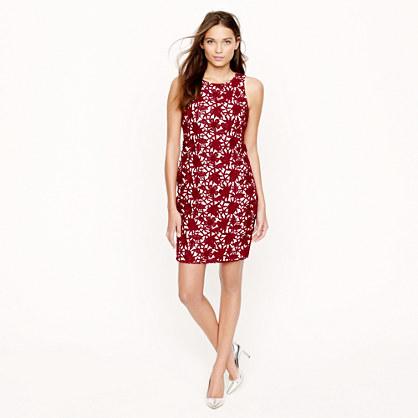 Collection appliquéd guipure lace dress