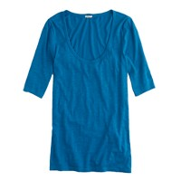 Drapey elbow-sleeve T-shirt