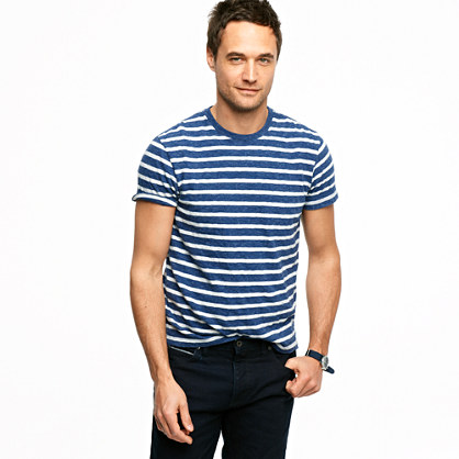 Jaspé tee in harbor stripe