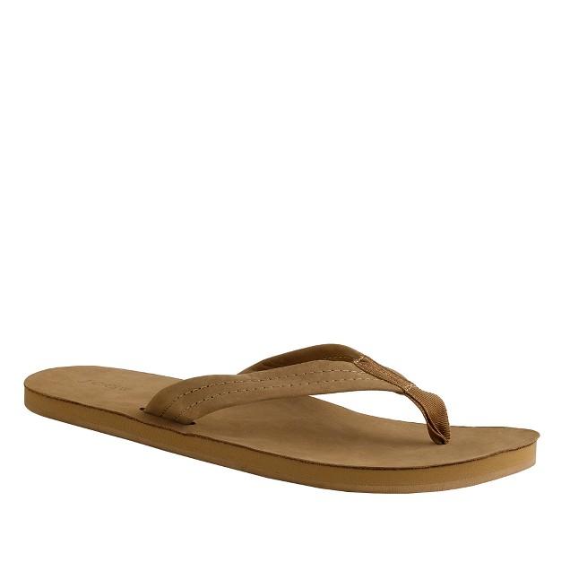 Nubuck flip-flops