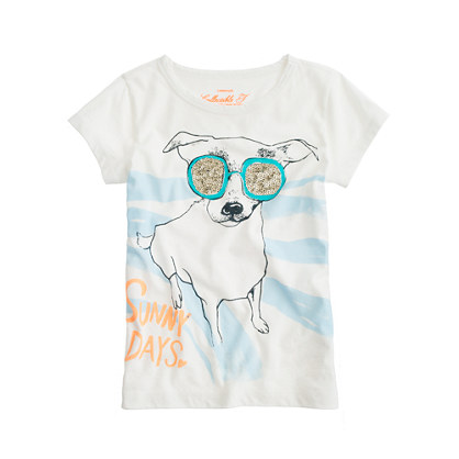 Girls' bow-wow bling tee